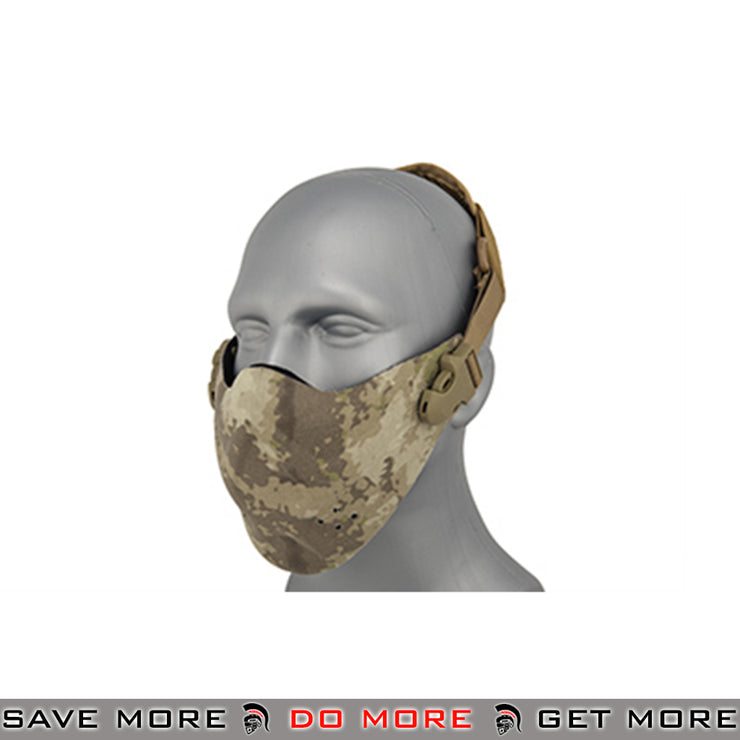 Lancer Tactical Neoprene Hard Foam Lower Half Mask - ATACS Face Masks- ModernAirsoft.com