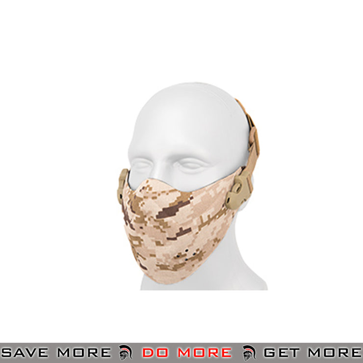 Lancer Tactical Neoprene Hard Foam Lower Face Mask - Desert Digital Face Masks- ModernAirsoft.com