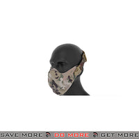 Lancer Tactical Neoprene Hard Foam Lower Face Mask - Multicam Face Masks- ModernAirsoft.com