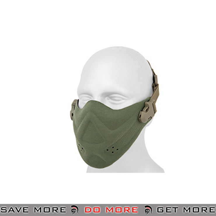 Lancer Tactical Neoprene Hard Foam Lower Face Mask - OD Green Face Masks- ModernAirsoft.com