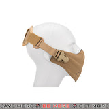 Lancer Tactical Neoprene Airsoft Hard Foam Half Mask - Dark Earth Face Masks- ModernAirsoft.com
