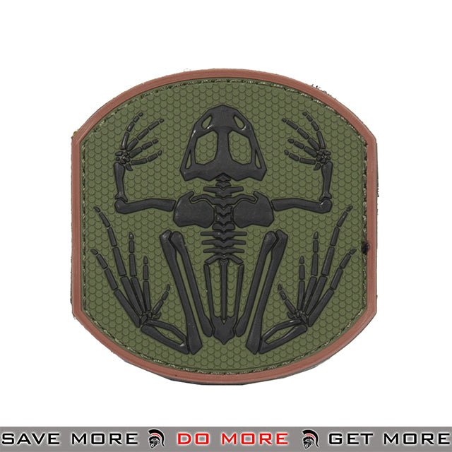 Lancer Tactical Velcro Morale Patch AC-390B - PVC Skull Frog Frogman, Green Patch- ModernAirsoft.com