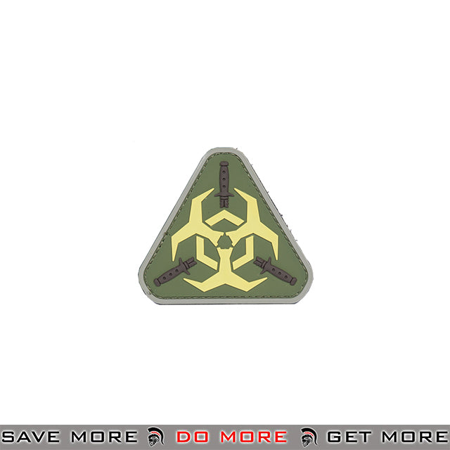 Lancer Tactical Velcro Morale Patch AC-392B - PVC biohazard, Green / Neon Patch- ModernAirsoft.com