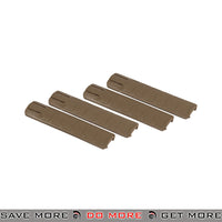 Lancer Tactical TD Style Rail Cover Set AC-422T - 4 pcs, Tan Rail Accessories- ModernAirsoft.com