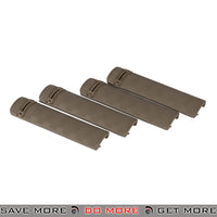 Lancer Tactical Troy Style Rail Cover Set AC-423T - 4 pcs, Tan Rail Accessories- ModernAirsoft.com
