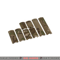 Lancer Tactical Diamond Plate Rail Cover Set AC-427C - 8 pcs, Multicam Rail Accessories- ModernAirsoft.com