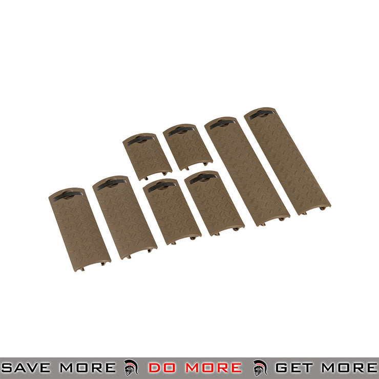 Lancer Tactical Diamond Plate Rail Cover Set AC-427T - 8 pcs, Tan Rail Accessories- ModernAirsoft.com