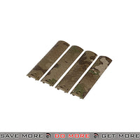 Lancer Tactical Diamond Plate Rail Cover Set AC-428C - 4 pcs, Multicam Rail Accessories- ModernAirsoft.com