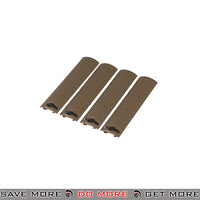Lancer Tactical Diamond Plate Rail Cover Set AC-428T - 4 pcs, Tan Rail Accessories- ModernAirsoft.com