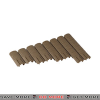 Lancer Tactical TD Style Rail Cover Set AC-429T - 8 pcs, Tan Rail Accessories- ModernAirsoft.com