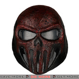 Skull Punisher Airsoft Mask - Red & Black Face Masks- ModernAirsoft.com