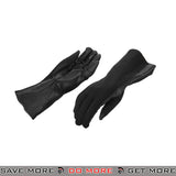ACM Leather Nomex Flight Gloves AC-4458 - Black Gloves- ModernAirsoft.com