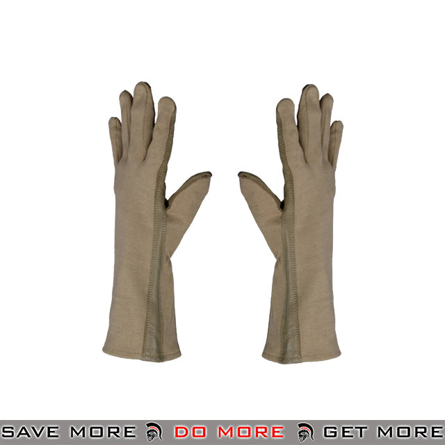 ACM Leather Nomex Flight Gloves AC-4459 - Tan Gloves- ModernAirsoft.com