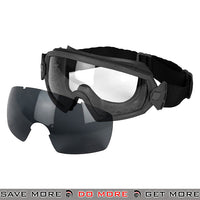 Lancer Tactical Regulator Style Ballistic Goggles w/ 2 Lens AC-445B - Black Head - Goggles- ModernAirsoft.com