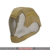Lancer Tactical V6 Strike Metal Mesh  Full Face Mask AC-472T - Tan Face Masks- ModernAirsoft.com