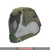 Lancer Tactical V6 Strike Metal Mesh  Full Face Mask AC-472W - Woodland Face Masks- ModernAirsoft.com
