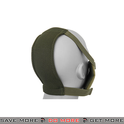 Emerson V8 Mesh Half Face Mask - OD Green Face Masks- ModernAirsoft.com