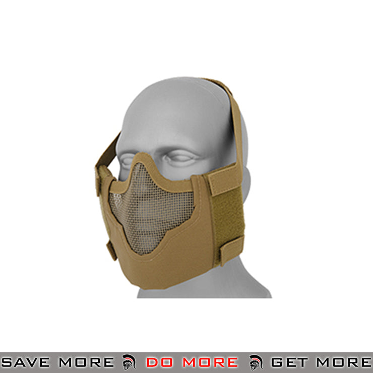 Emerson V8 Tactical Mesh Half Mask - Tan Face Masks- ModernAirsoft.com
