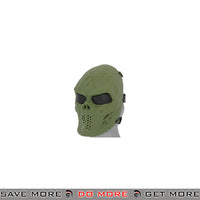 Emerson Villain Skull Mesh Face Mask - Foliage Green Face Masks- ModernAirsoft.com