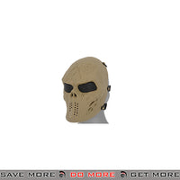 Emerson Villain Skull Mesh Face Mask - Tan Face Masks- ModernAirsoft.com