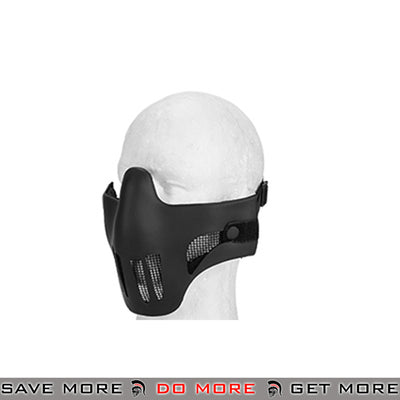 Emerson Tactical Polymer Mesh Vented Half Mask - Black Face Masks- ModernAirsoft.com