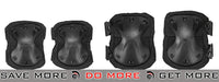 Lancer Tactical Quick Release Knee & Elbow Pad Set  - Black Knee / Elbow Pads- ModernAirsoft.com