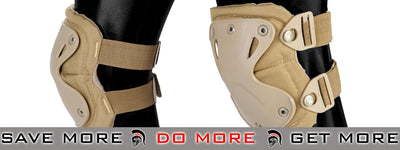 Lancer Tactical Quick Release Knee & Elbow Pad Set  - Woodland Knee / Elbow Pads- ModernAirsoft.com