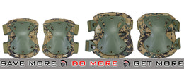 Lancer Tactical Quick Release Knee & Elbow Pad Set  - Digital Woodland - Modern Airsoft