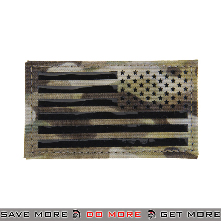 Lancer Tactical Velcro Morale Patch AC-480R - US Flag Reversed IR Signal Skills, Multicam Patch- ModernAirsoft.com