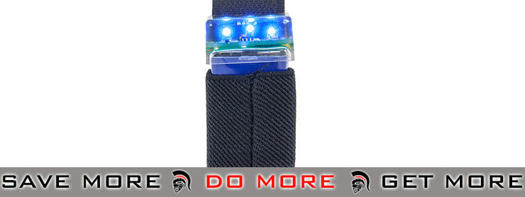 Emerson Gear KNV-14 9V Strobe Light w/ Velcro Mount (Black / Blue) strobe light- ModernAirsoft.com