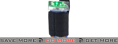 Emerson Gear KNV-14 9V Strobe Light w/ Velcro Mount (Black / Green) strobe light- ModernAirsoft.com