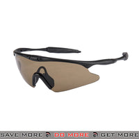 Wosport TPU Shooting Safety Glasses AC-570BN - Brown Lens Head - Goggles- ModernAirsoft.com