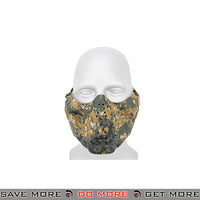 Lancer Tactical Skull Lower Face Mask w/ Foam Padding - Woodland Digital Face Masks- ModernAirsoft.com