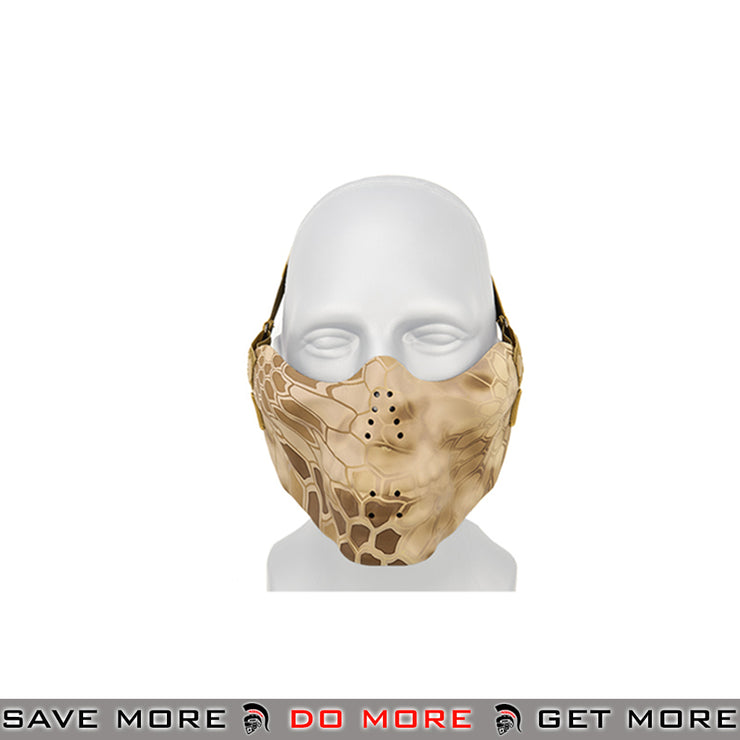 Lancer Tactical Airsoft Half Face Skull Mask - Desert Nomad Face Masks- ModernAirsoft.com
