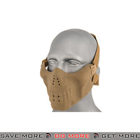 Emerson Half Face Skull Mask - Tan Face Masks- ModernAirsoft.com