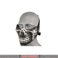 Emerson Half Face Skull Mask - Silver and Black Face Masks- ModernAirsoft.com
