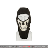 Lancer Tactical Skull Balaclava AC-589WB - Black & White Head - Hats- ModernAirsoft.com