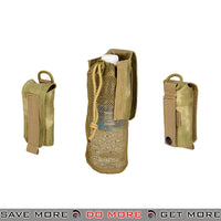 Lancer Tactical Folding Water Bottle Holder Bag AC-617ATFG - A-TACS FG Others / Pouch Accessories- ModernAirsoft.com