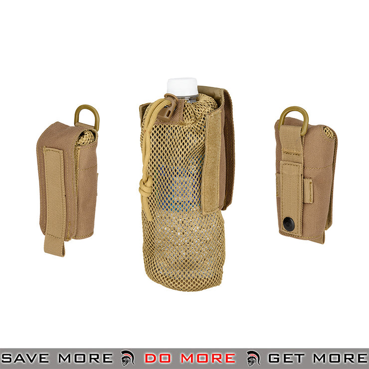 Lancer Tactical Folding Water Bottle Holder Bag AC-617T - Tan Others / Pouch Accessories- ModernAirsoft.com