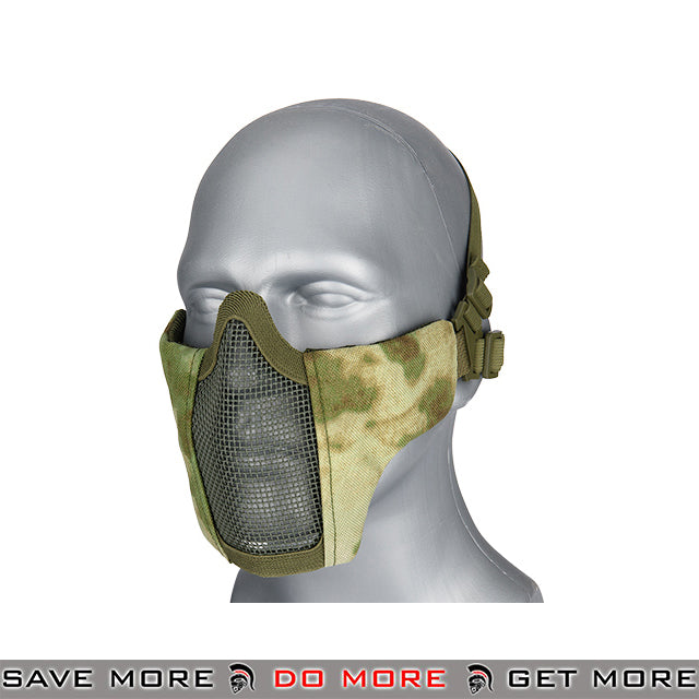 Lancer Tactical Half Mesh Padded Nylon Lower Face Mask AC-642ATFG - A-TACS FG Face Masks- ModernAirsoft.com