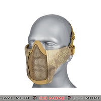 Lancer Tactical Half Mesh Padded Nylon Lower Face Mask AC-642AT - A-TACS AU Face Masks- ModernAirsoft.com