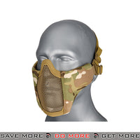 Lancer Tactical Half Mesh Padded Nylon Lower Face Mask AC-642C- Multicam Face Masks- ModernAirsoft.com