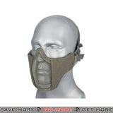 Lancer Tactical Half Mesh Padded Nylon Lower Face Mask AC-642GY - Gray Face Masks- ModernAirsoft.com