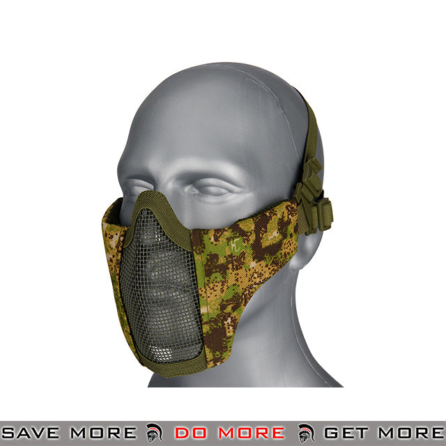 Lancer Tactical Half Mesh Padded Nylon Lower Face Mask AC-642GZ - Greenzone Face Masks- ModernAirsoft.com