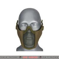 Lancer Tactical Half Mesh Padded Nylon Lower Face Mask AC-642G - OD Green Face Masks- ModernAirsoft.com