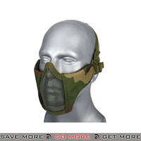 Lancer Tactical Half Mesh Padded Nylon Lower Face Mask AC-642W - Woodland Face Masks- ModernAirsoft.com