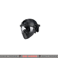 WoSporT Tactical Piloteer Bump Helmet & Mask w/ Adapter - Black Head - Helmets- ModernAirsoft.com