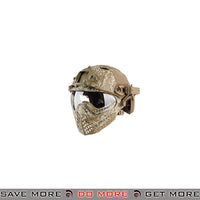 WoSporT Tactical Piloteer Bump Helmet & Mask w/ Adapter - Desert Digital Head - Helmets- ModernAirsoft.com