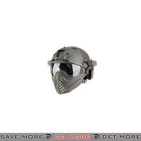 WoSporT Tactical Piloteer Bump Helmet & Mask w/ Adapter - Gray Head - Helmets- ModernAirsoft.com