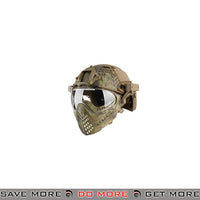 WoSporT Tactical Piloteer Bump Helmet & Mask w/ Adapter - MAD Camo Head - Helmets- ModernAirsoft.com